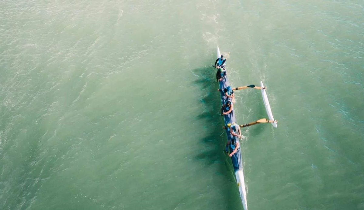 Bird's Eye View of Paddlers